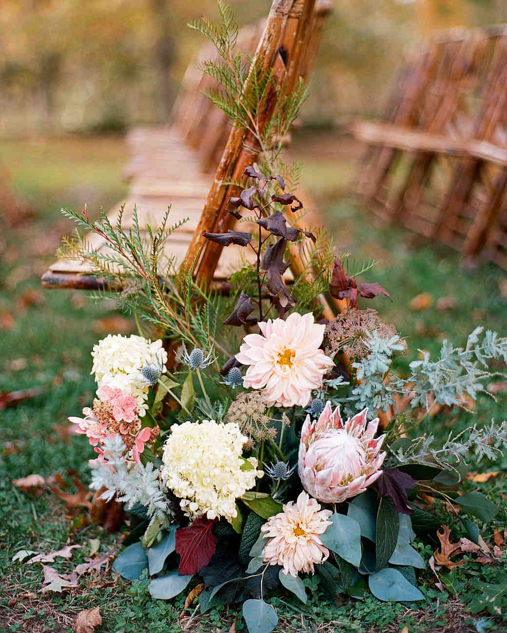 meg nick wedding ceremony flowers