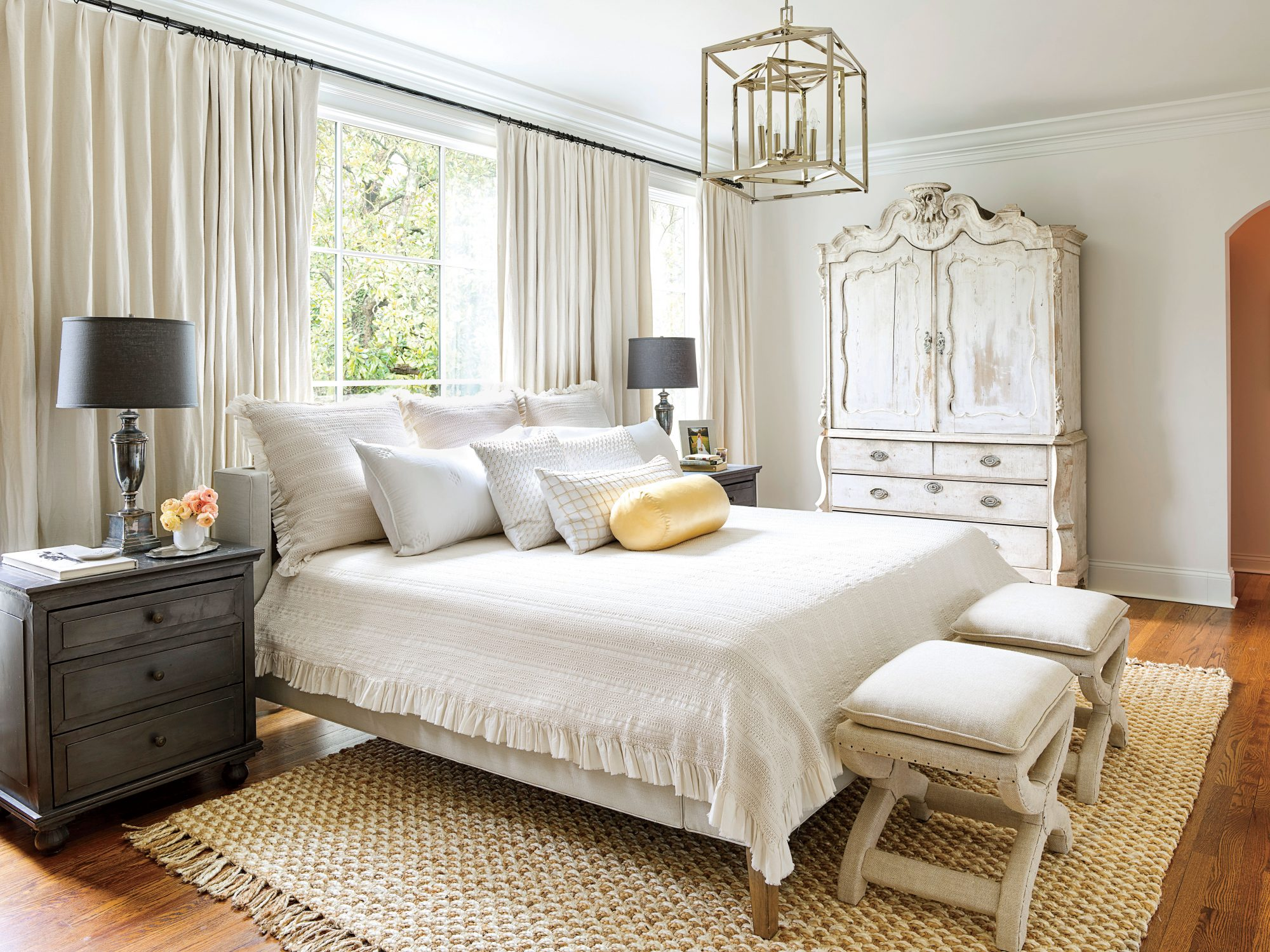 Holly Williams Colonial Revival Remodel in Nashville, TN Neutral Master Bedroom