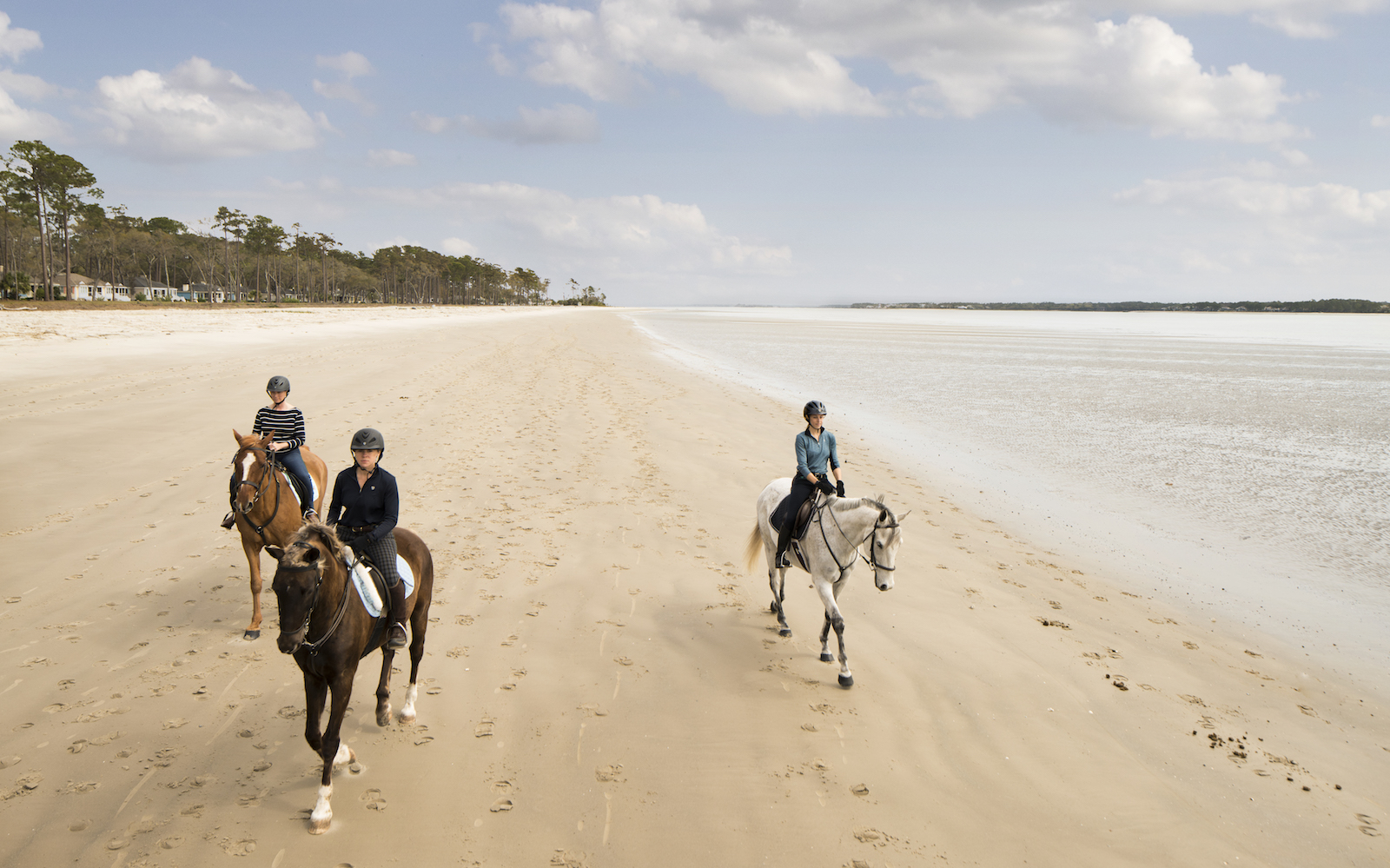 Haig Point Daufuskie horseback riding on the beach