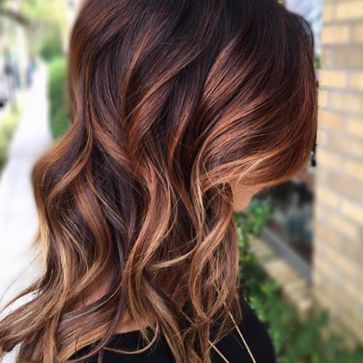Amber Chestnut Layers with Golden Accents