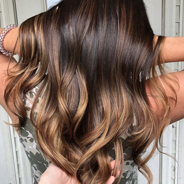 Golden Chestnut Balayage