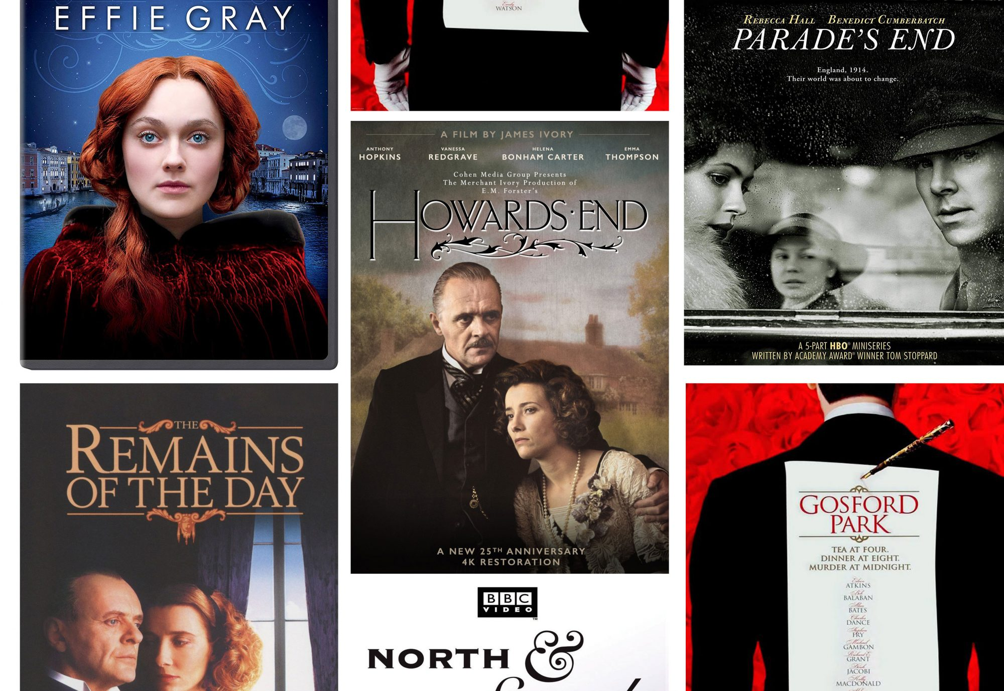 Films Like Downton Abbey Collage