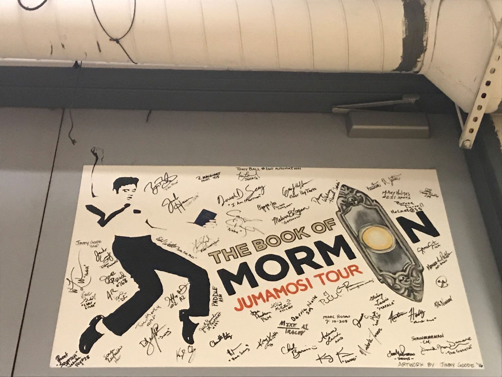 Elvis at the Orpheum Book of Mormon Mural