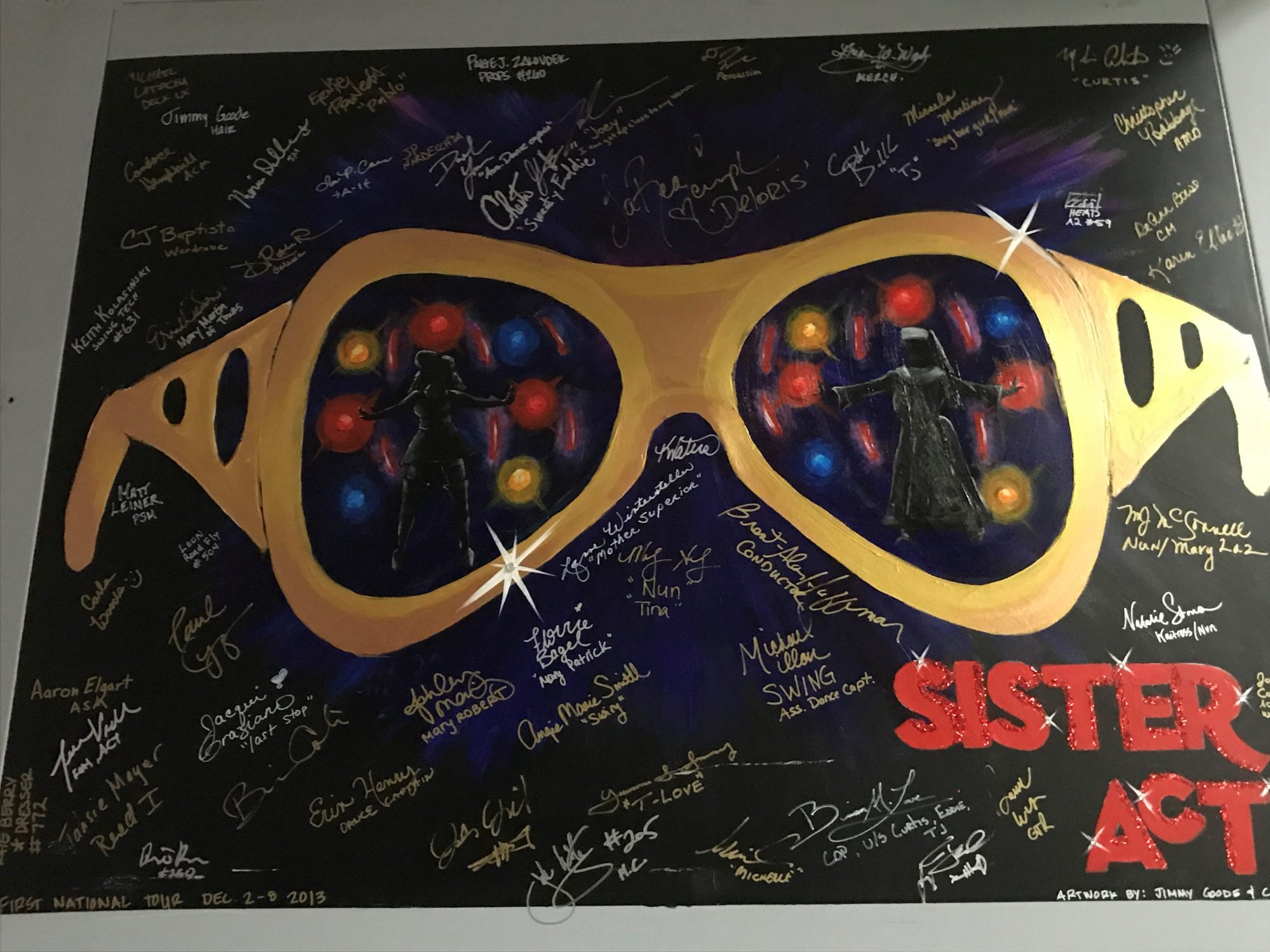 Sister Mary Clarence looks fabulous through those Elvis glasses!