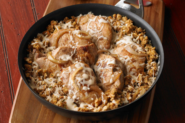 French Onion Pork Chop Skillet