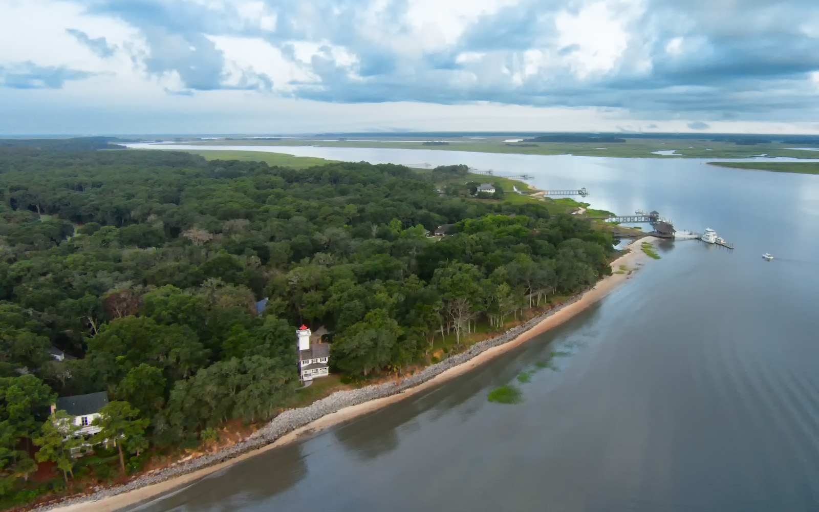 Haig Point Lighthouse Daufuskie Island South Carolina overview