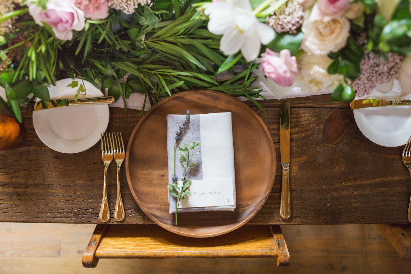 Garden Inspired Wedding Place Setting