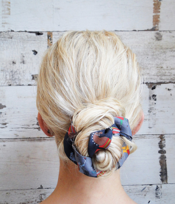 4th of July Hairstyle An Accessorized Bun