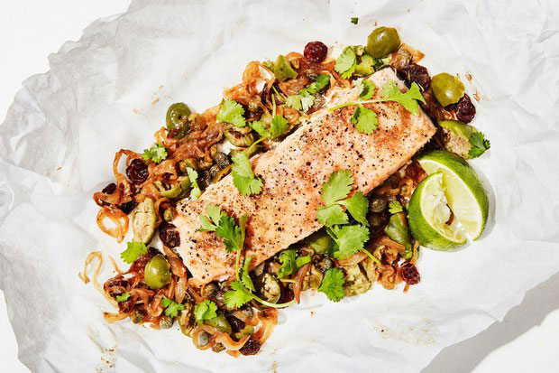 Slow-Roasted Salmon in Parchment Paper