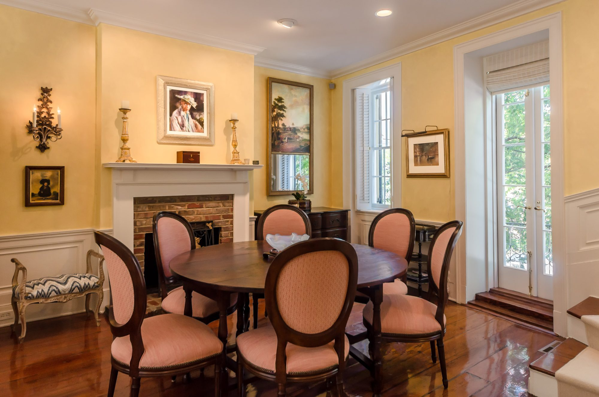 Yellow Rainbow Row House for Sale in Charleston, SC