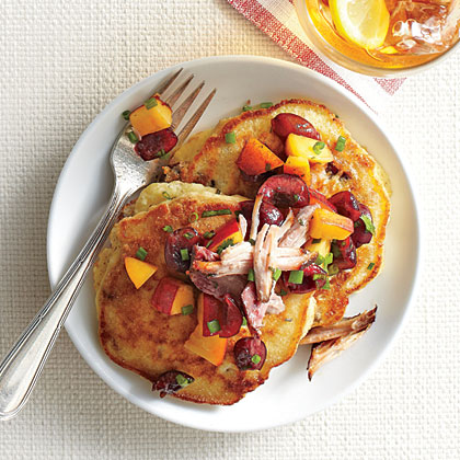 Pulled Pork Griddle Cakes Recipe Southern Living