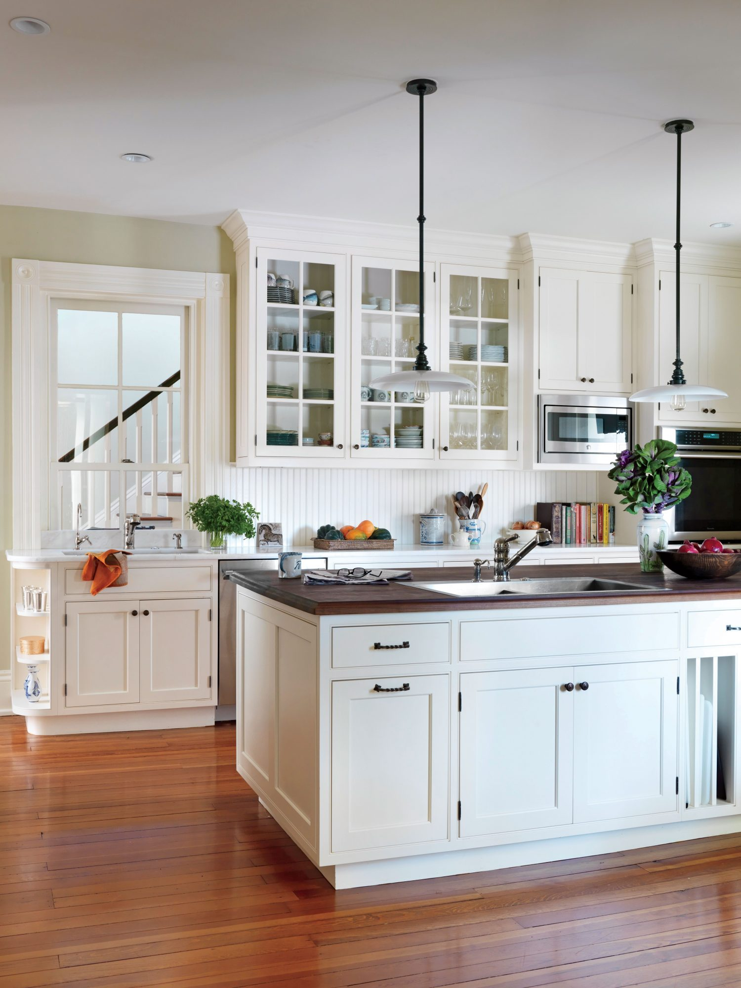 Kentucky Farmhouse White Kitchen