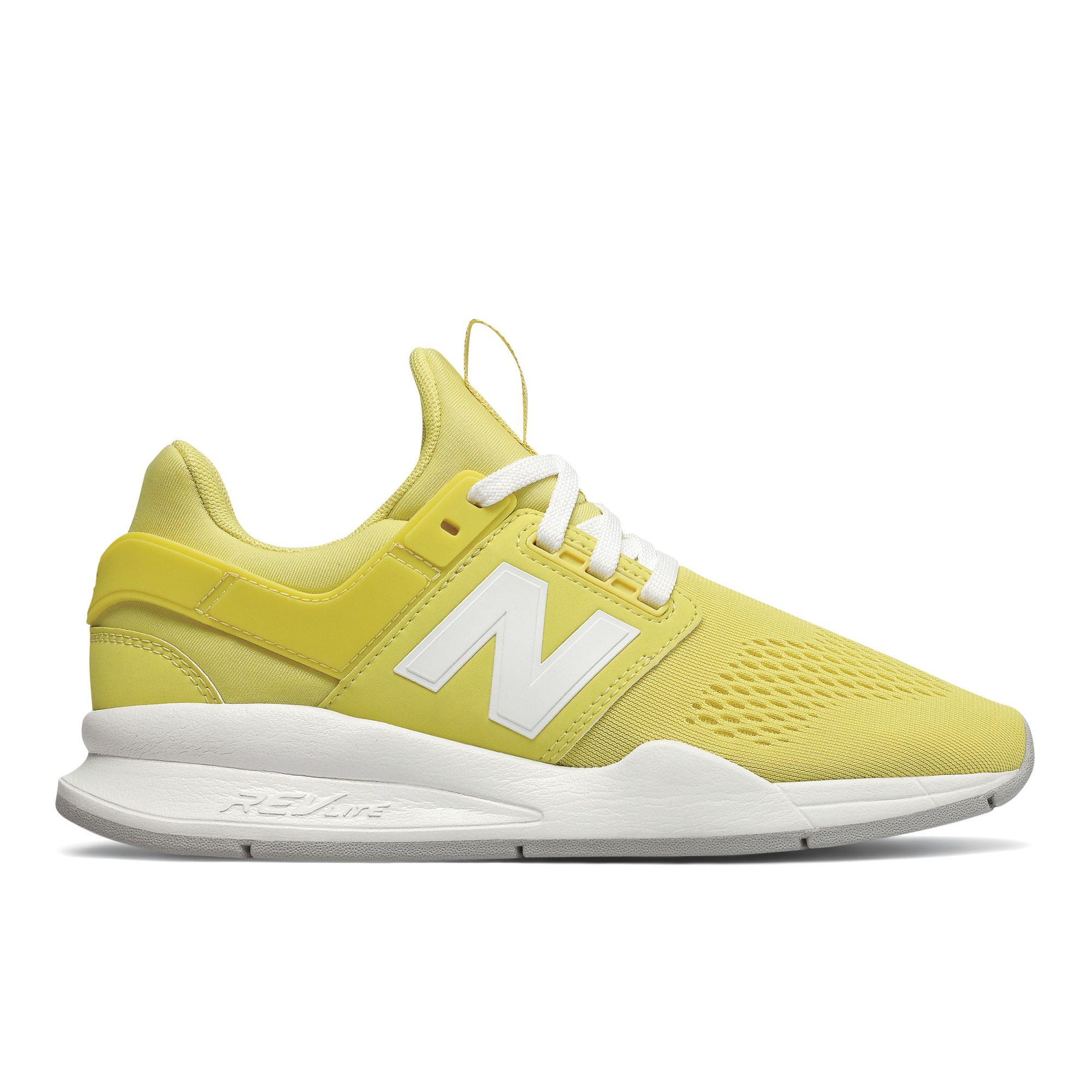 New Balance 247 in Lemonade/White Running Shoes