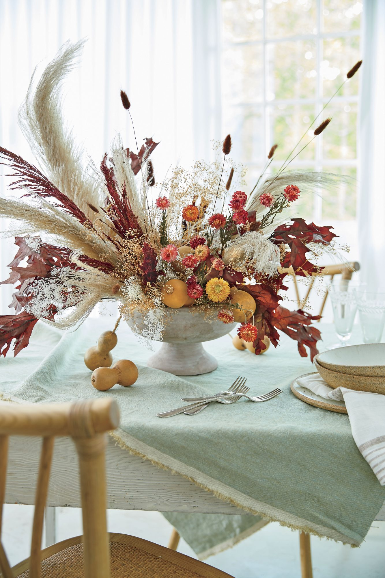 Preserved Centerpiece for Fall
