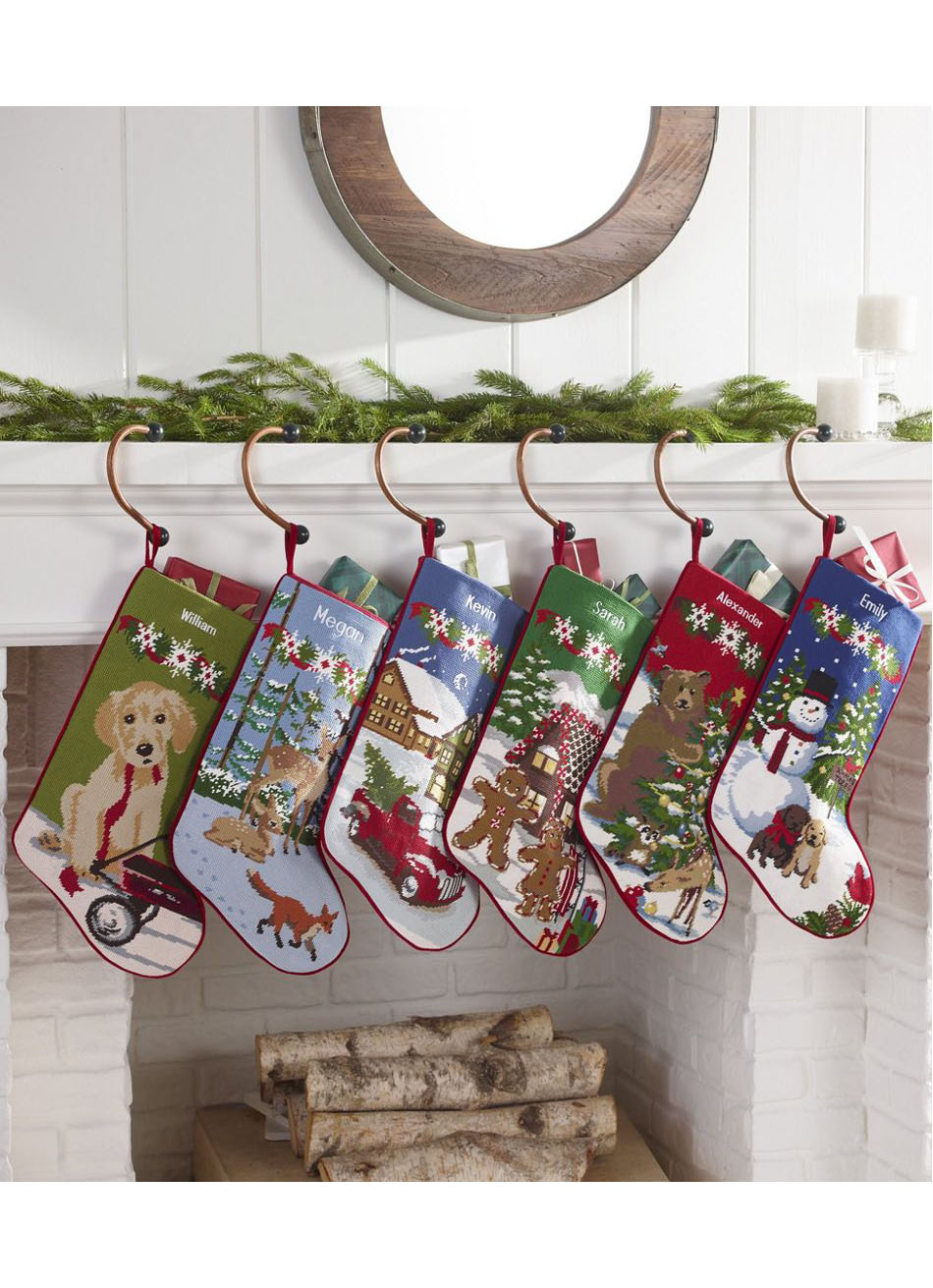 Classic Character Needlepoint Stockings