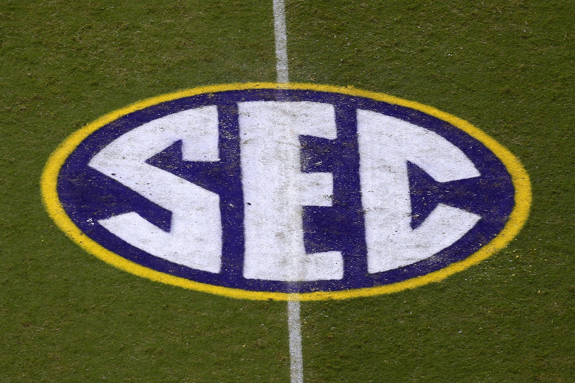 SEC Football Logo on Field