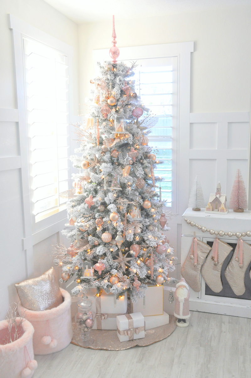 Blush Pink And White Christmas Tree