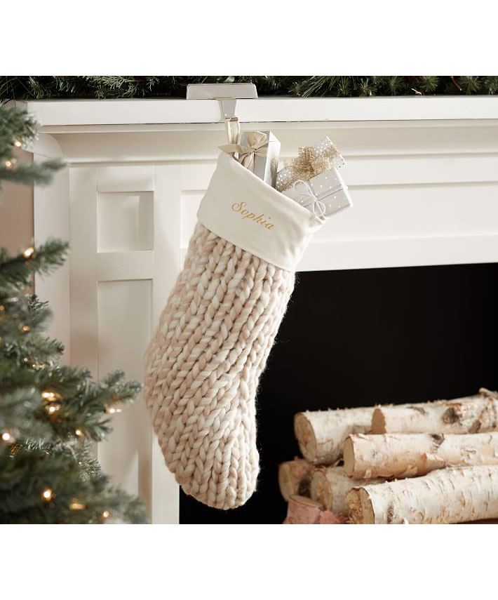 Chunky Knit Sweater Stocking