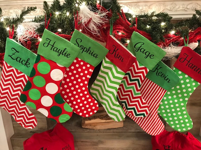 Christmas Canvas Stockings