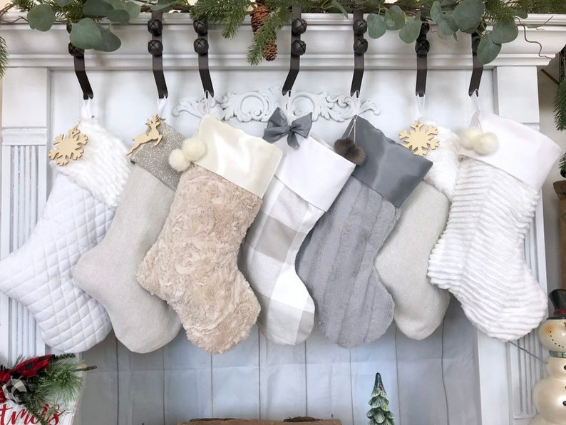 Personalized Fur Stockings