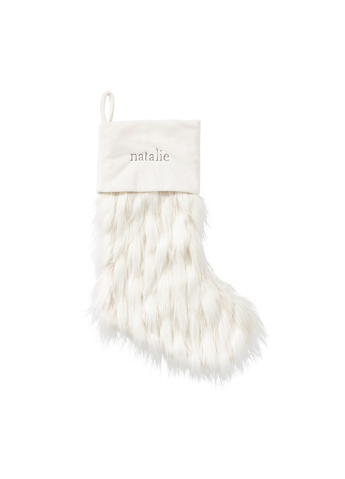 Faux Llama Fur Stocking