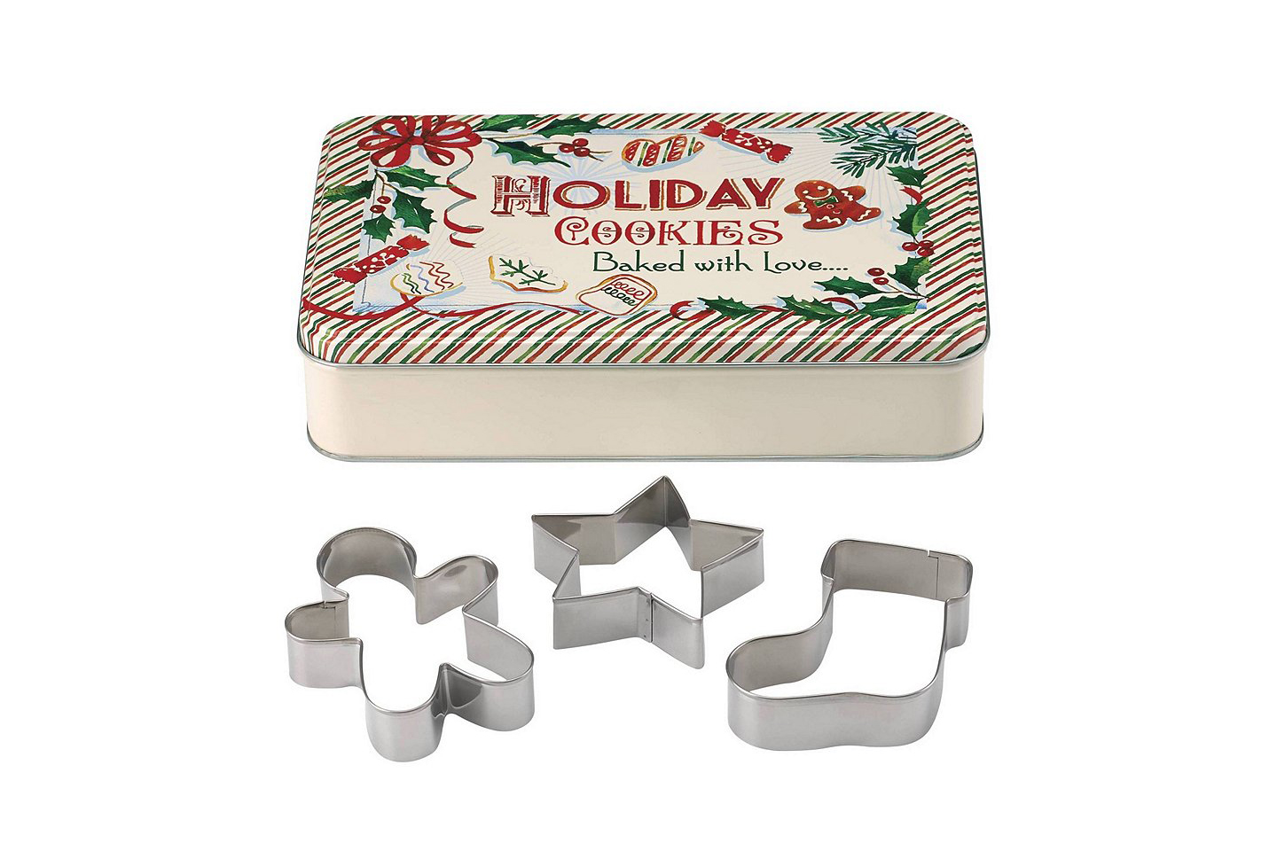 Lenox Home for the Holidays Rectangular Tin with 3 Cookie Cutters