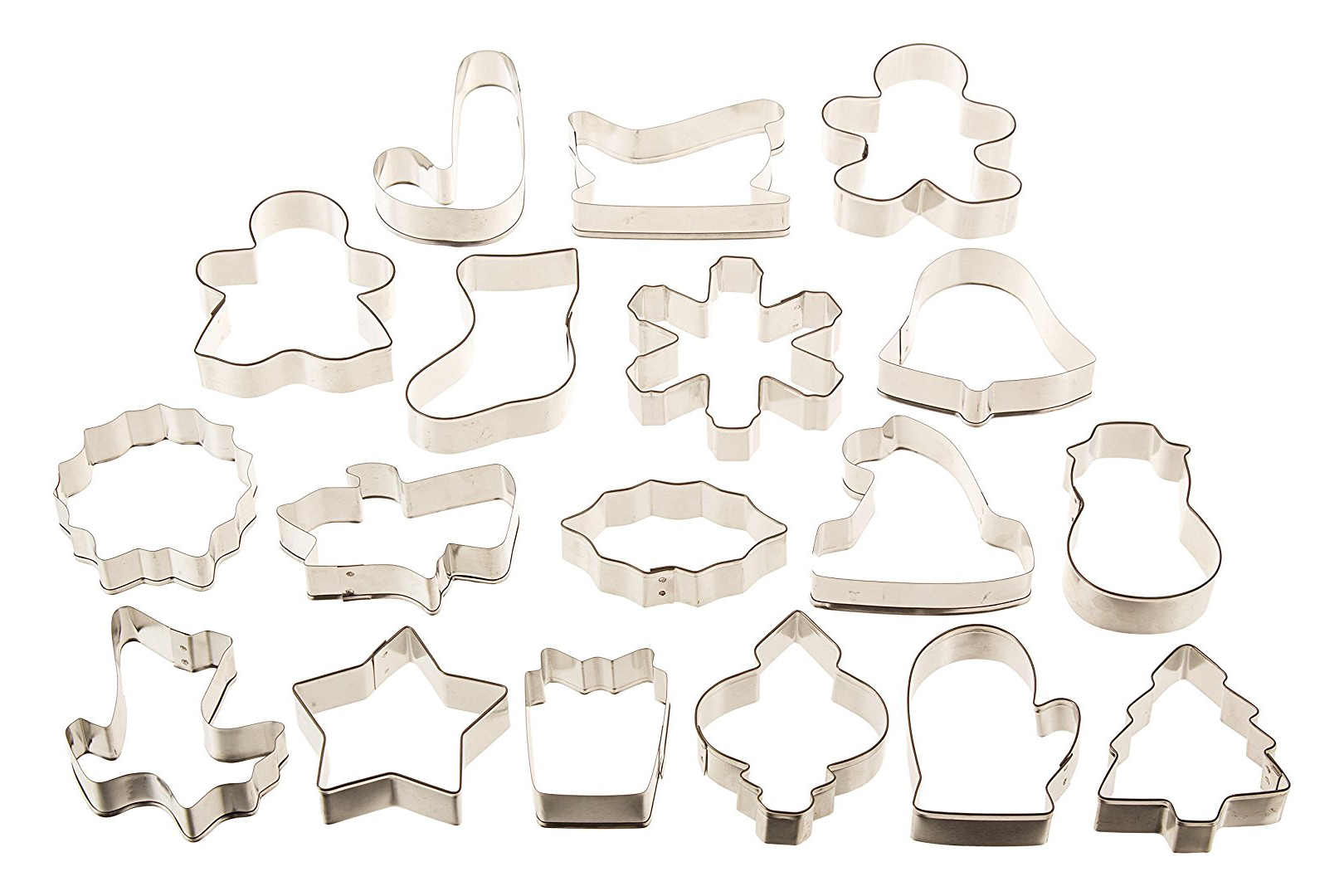 Wilton Holiday 18 pc Metal Cookie Cutter Set