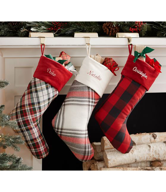 Multi-Patterned Plaid Stockings