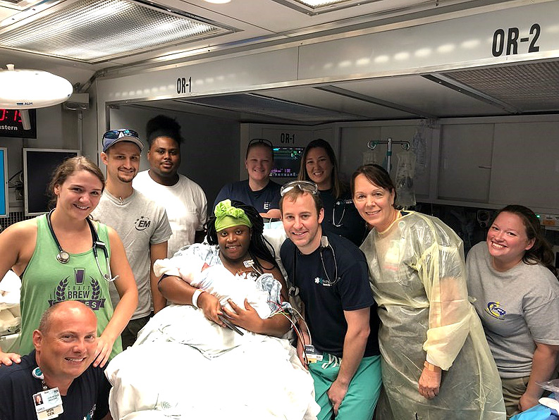 N.C. Mom Gives Birth in Tractor-Trailer-Turned Hospital After Hurricane —and Chooses Best Baby Name storm-3
