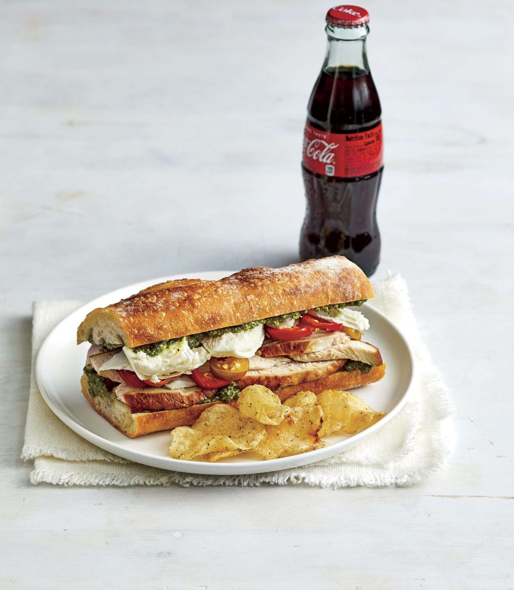 Turkey, Pesto, and Fresh Mozzarella Sandwich Recipe Marianne Williams