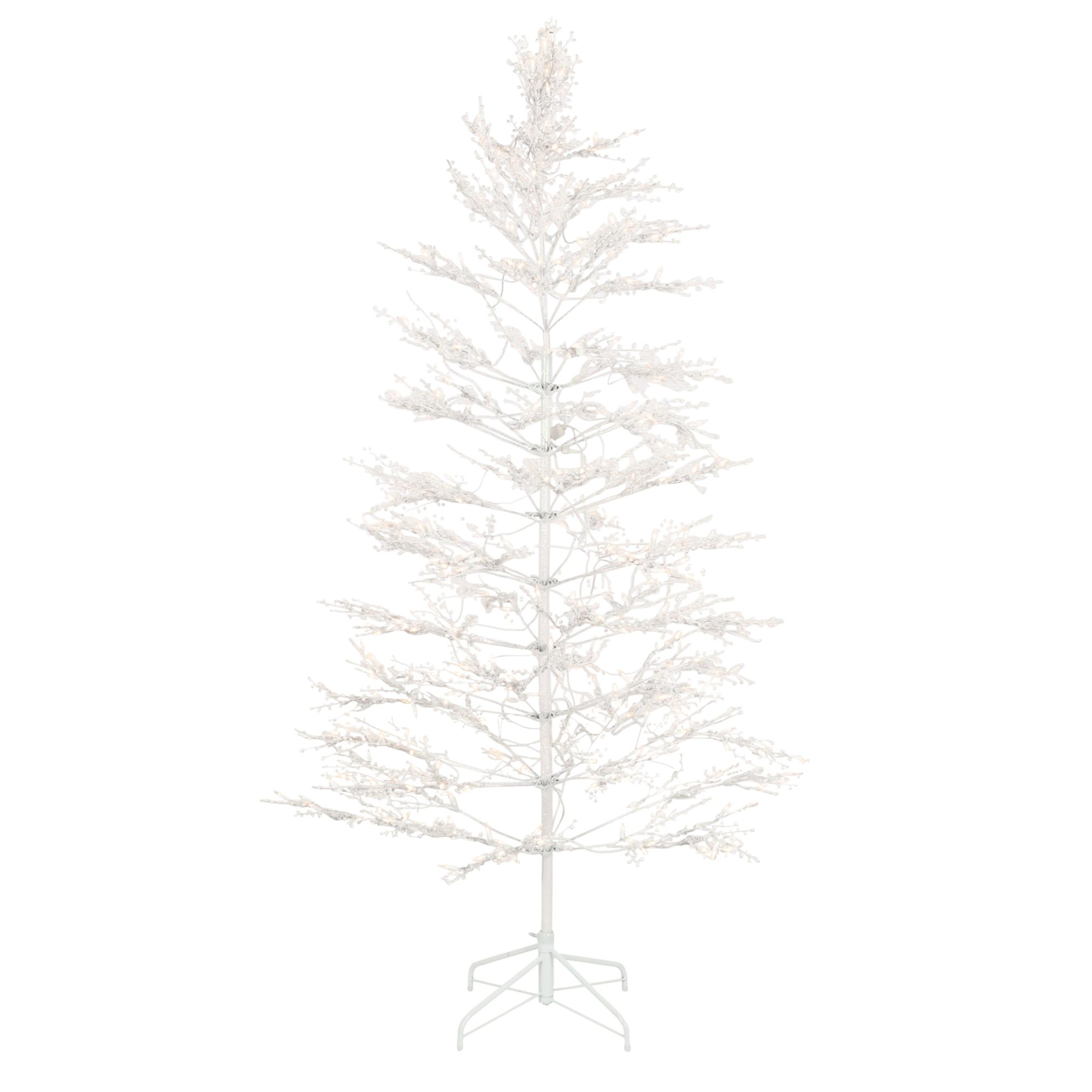 7 ft. White Winterberry Branch Tree with LED Lights
