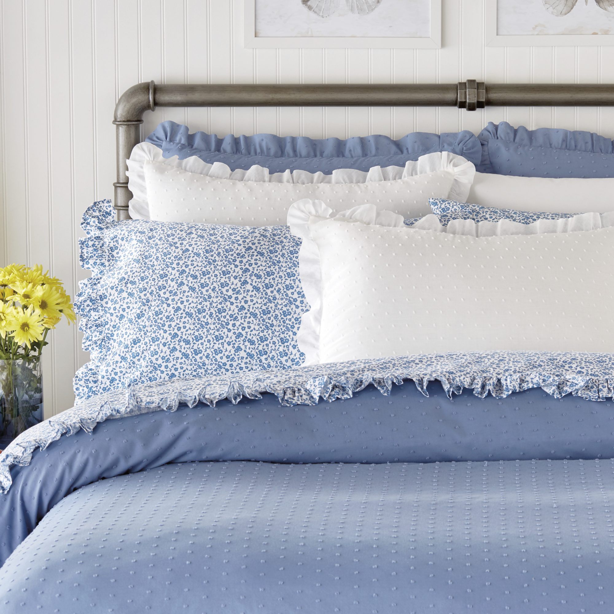 Breezy Dot Comforter Washed Denim