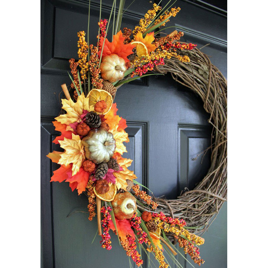 Asymmetrical Twig Wreath
