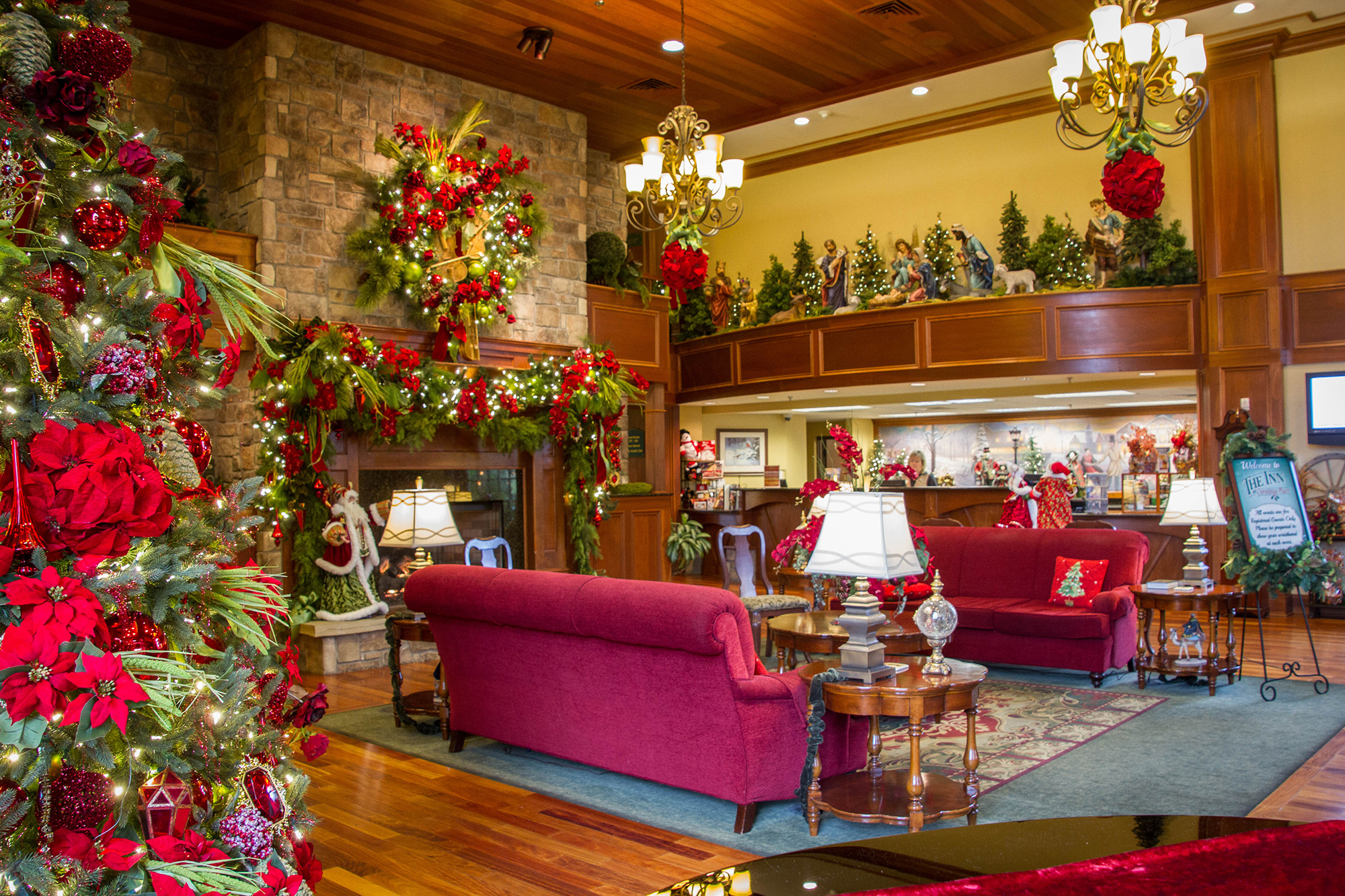 Inside the Tennessee Resort Where It's Christmas All Year Round christmas-hotel-main-lobby