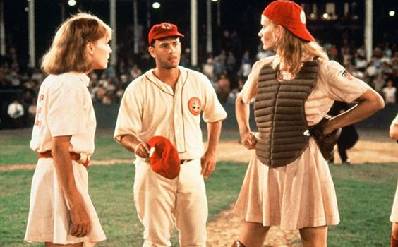 Dottie Hinson and Kit Keller from A League of Their Own