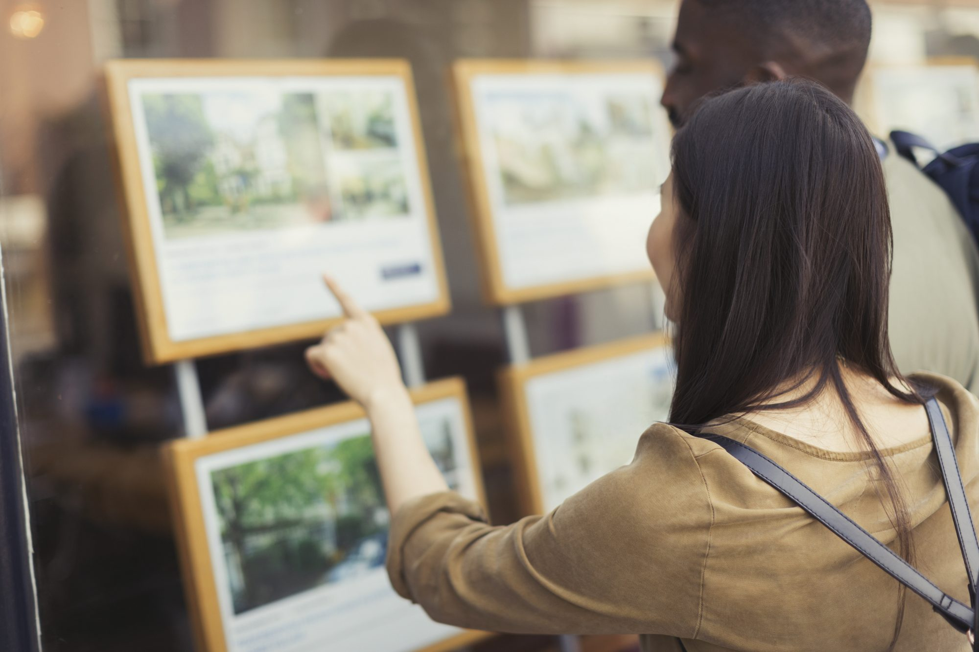 Couple Looking at Real Estate Listing