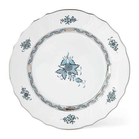 Herend 'Chinese Bouquet' in Turquoise & Platinum