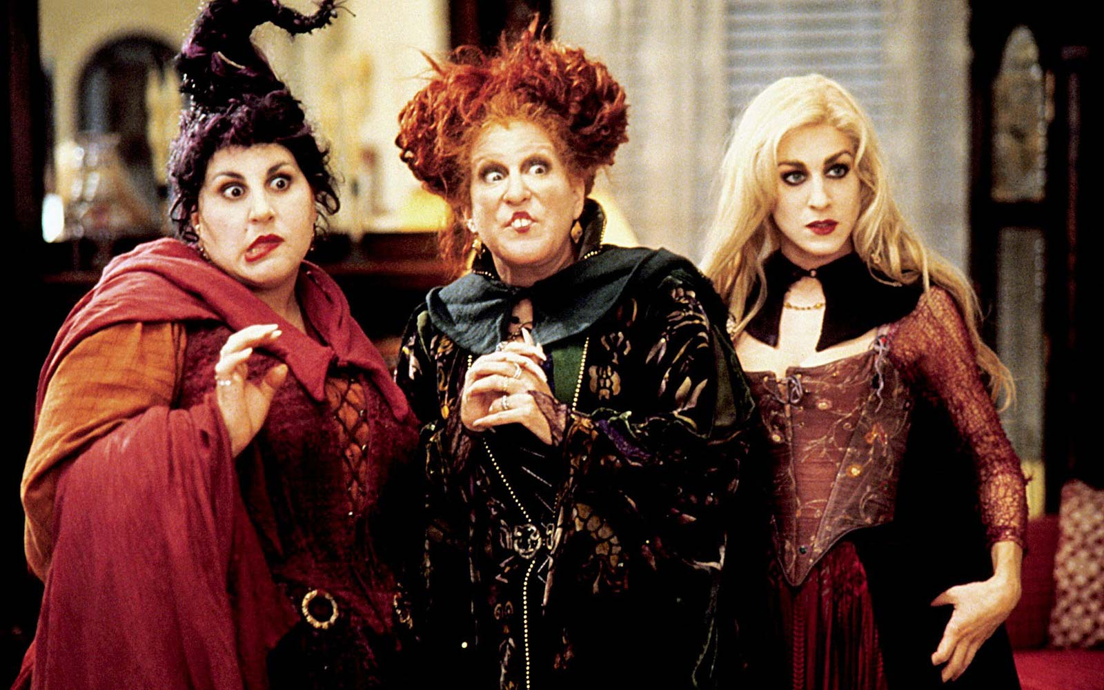 Winifred, Mary, and Sarah Sanderson from Hocus Pocus