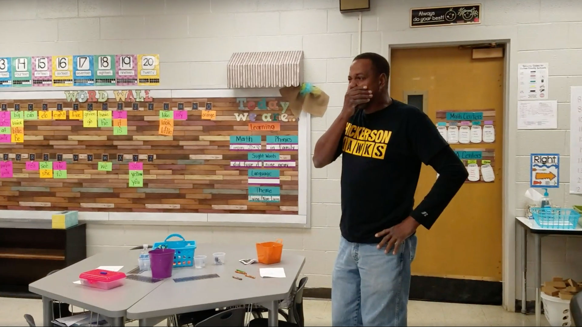 Deaf Hickerson Elementary Custodian