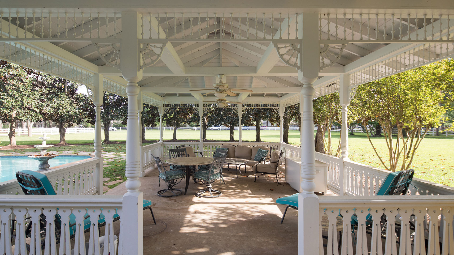 Sugar Land Victorian Pecan Manor Gazebo