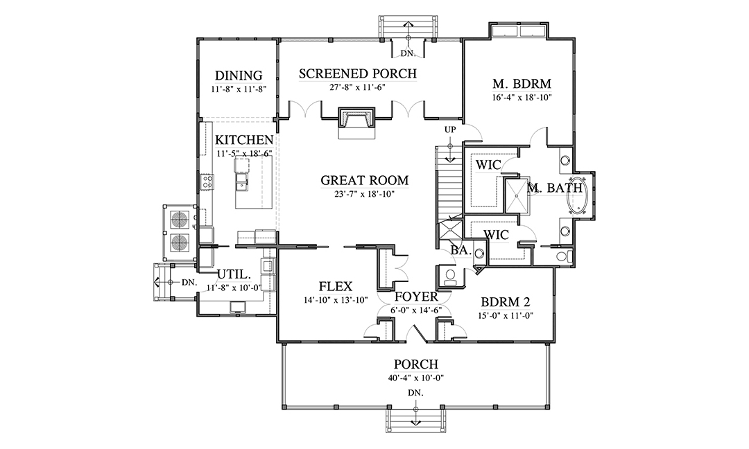 Gilliam House Plan First Floor
