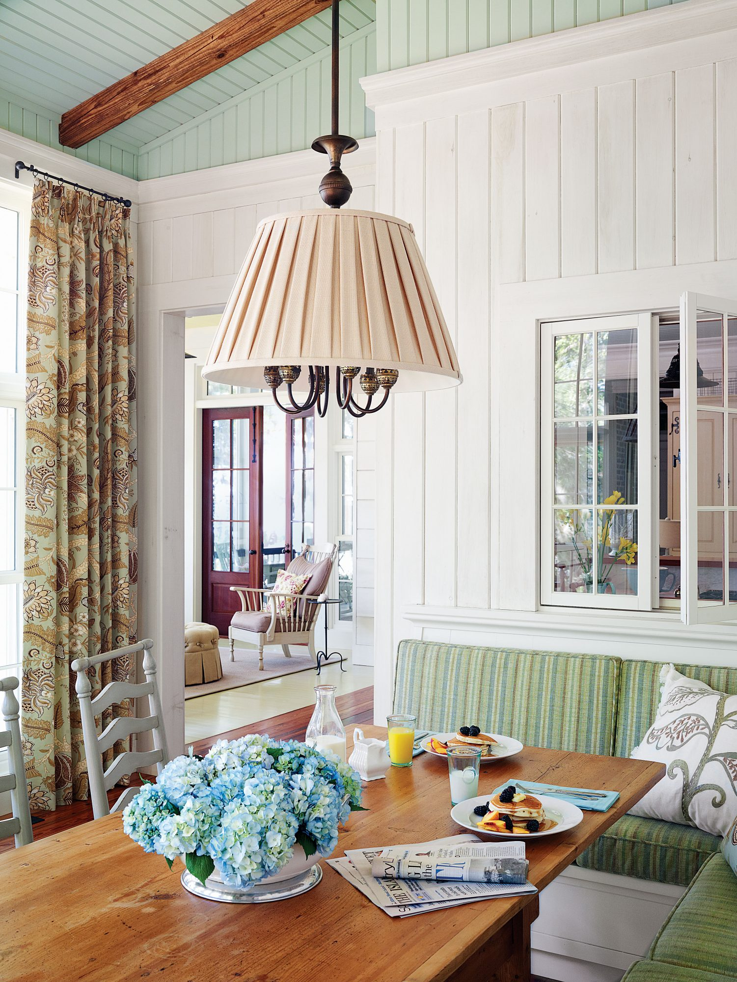 Vintage Lowcountry House Plan Dining Room