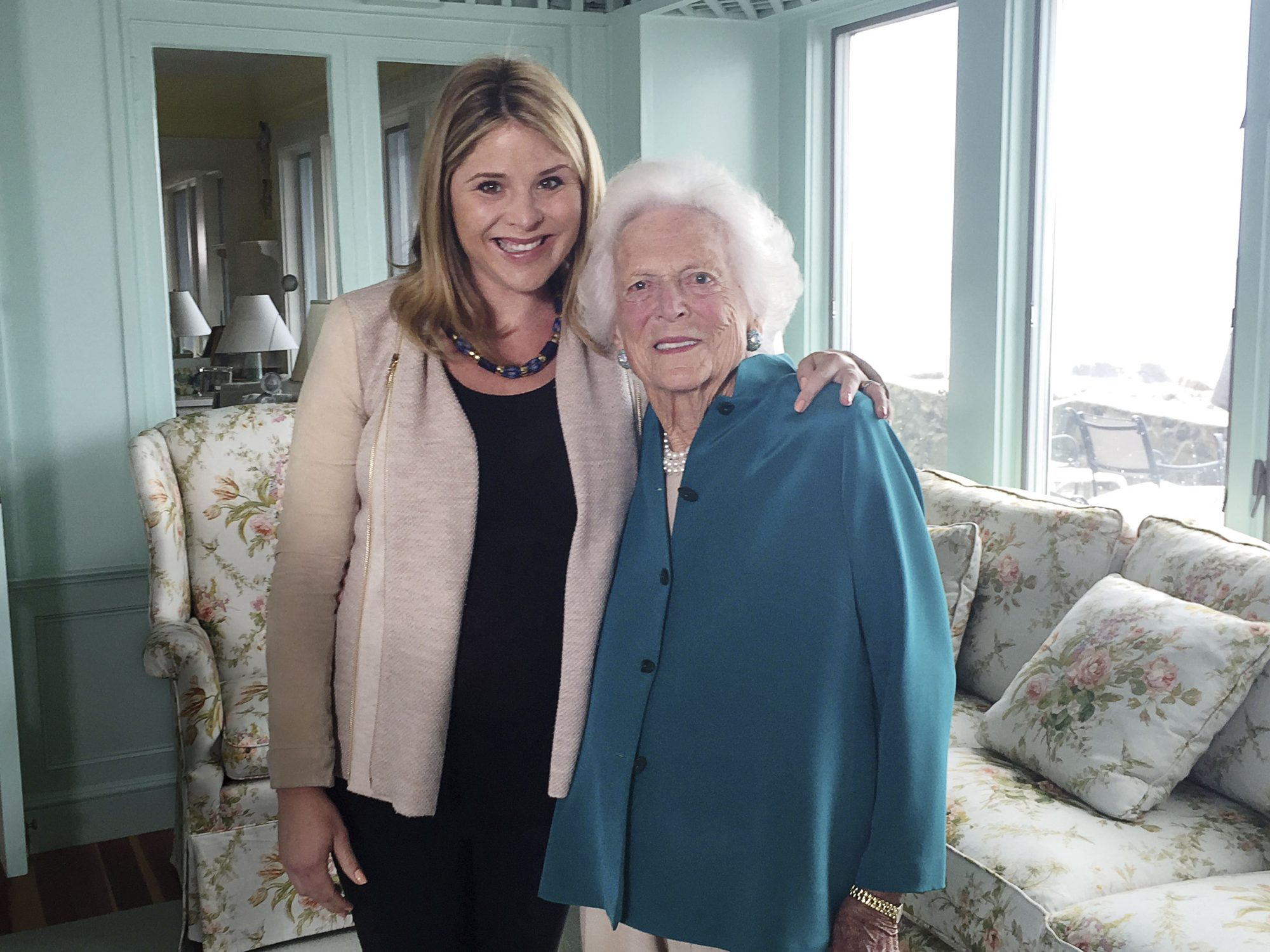 Jenna Bush Hager and Granny Barbara Bush