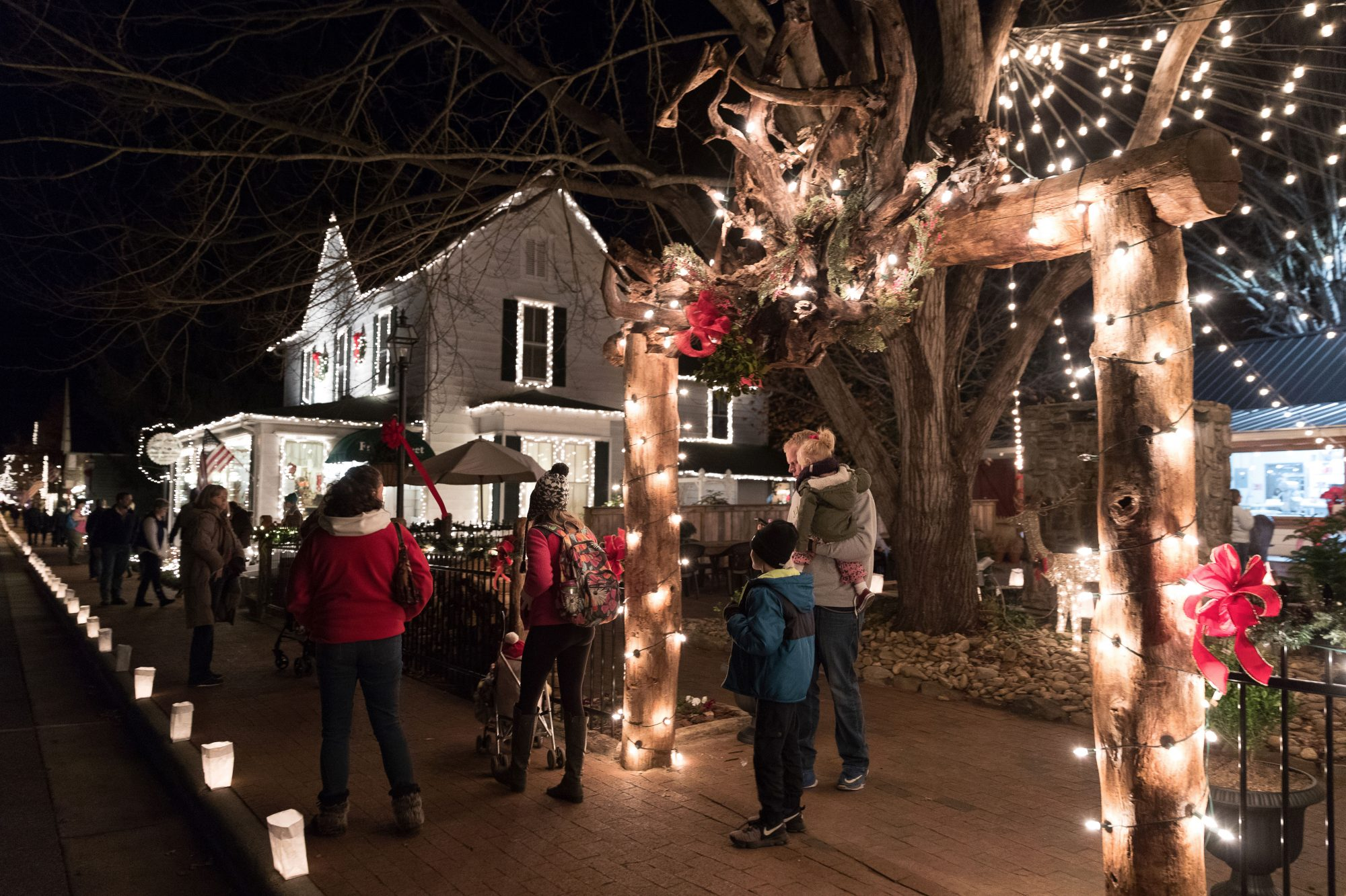 Dillsboro, NC Lights and Luminaries Festival