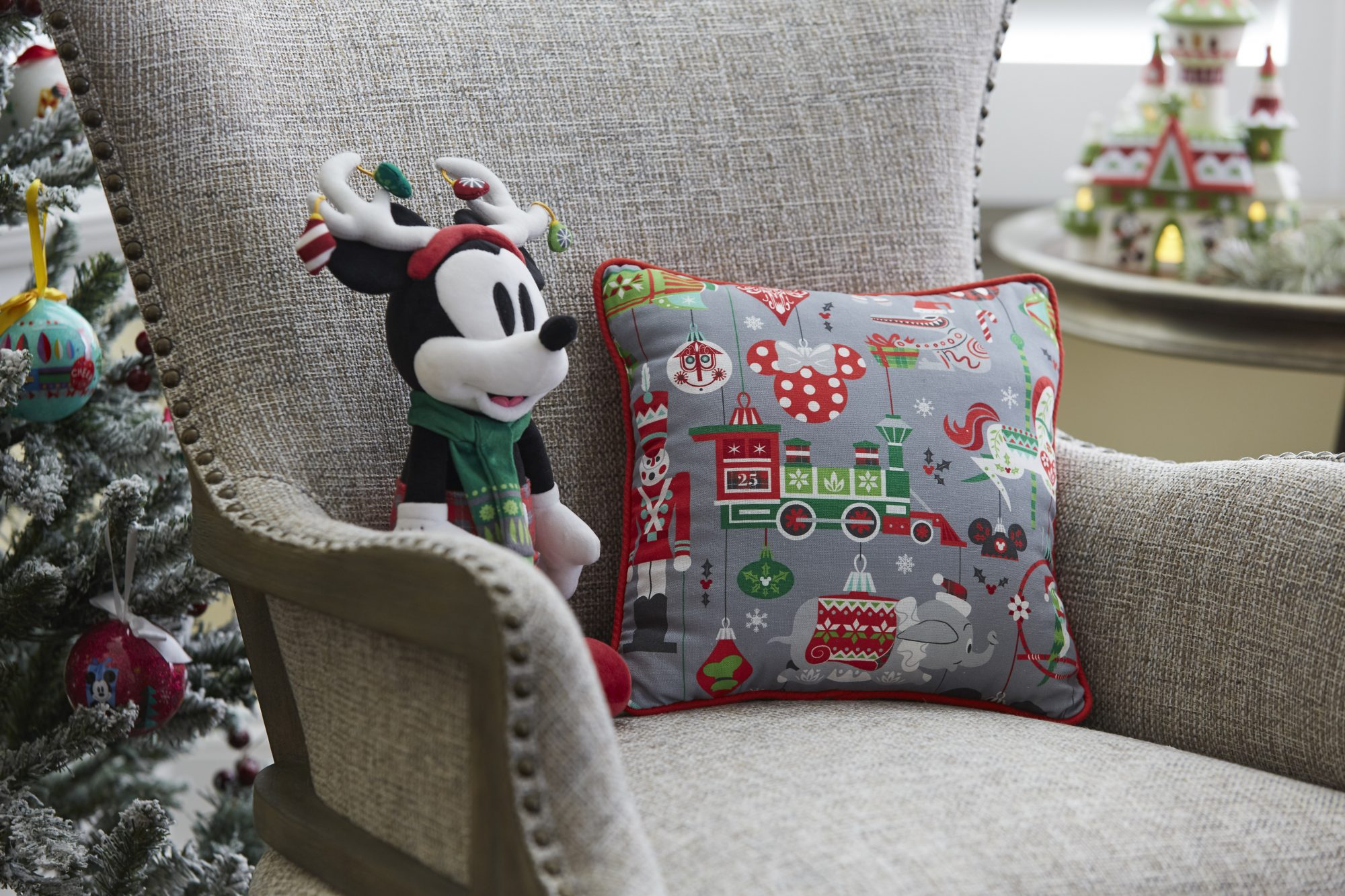 Disney Parks Holiday Throw Pillow