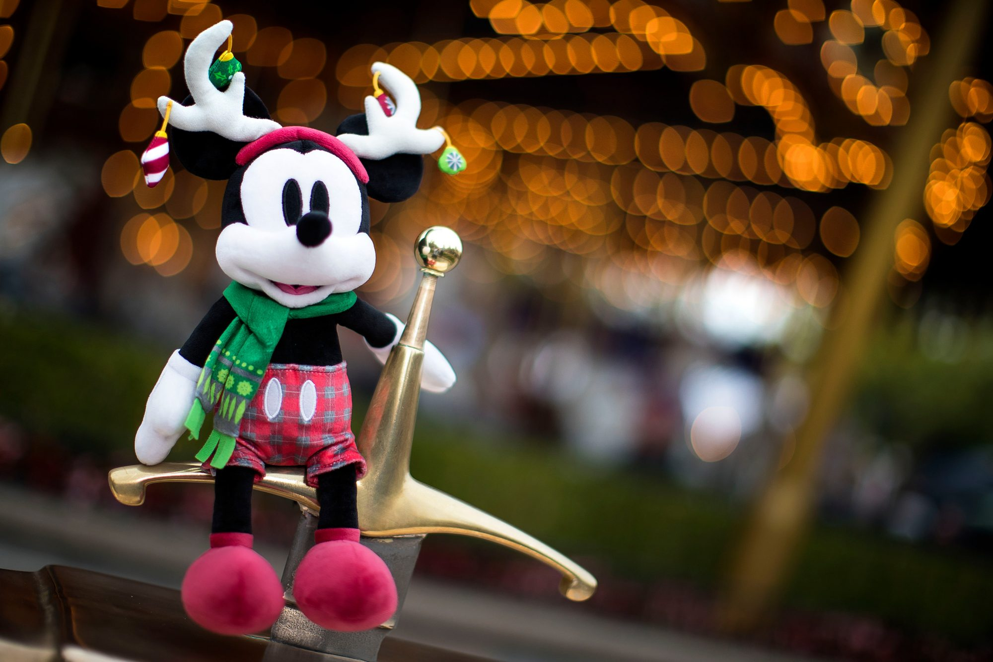 Holiday Mickey Mouse Plush