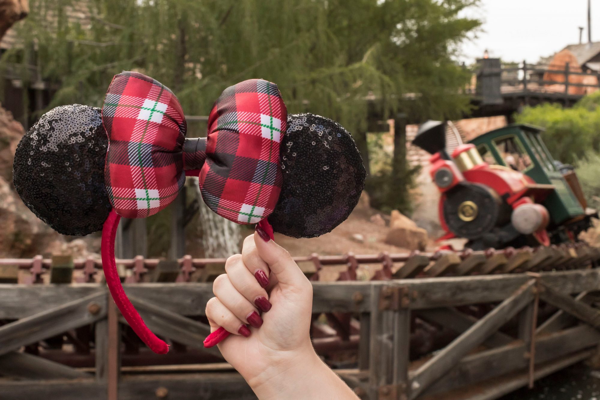 Minnie Mouse Holiday Ears Headband for Adults