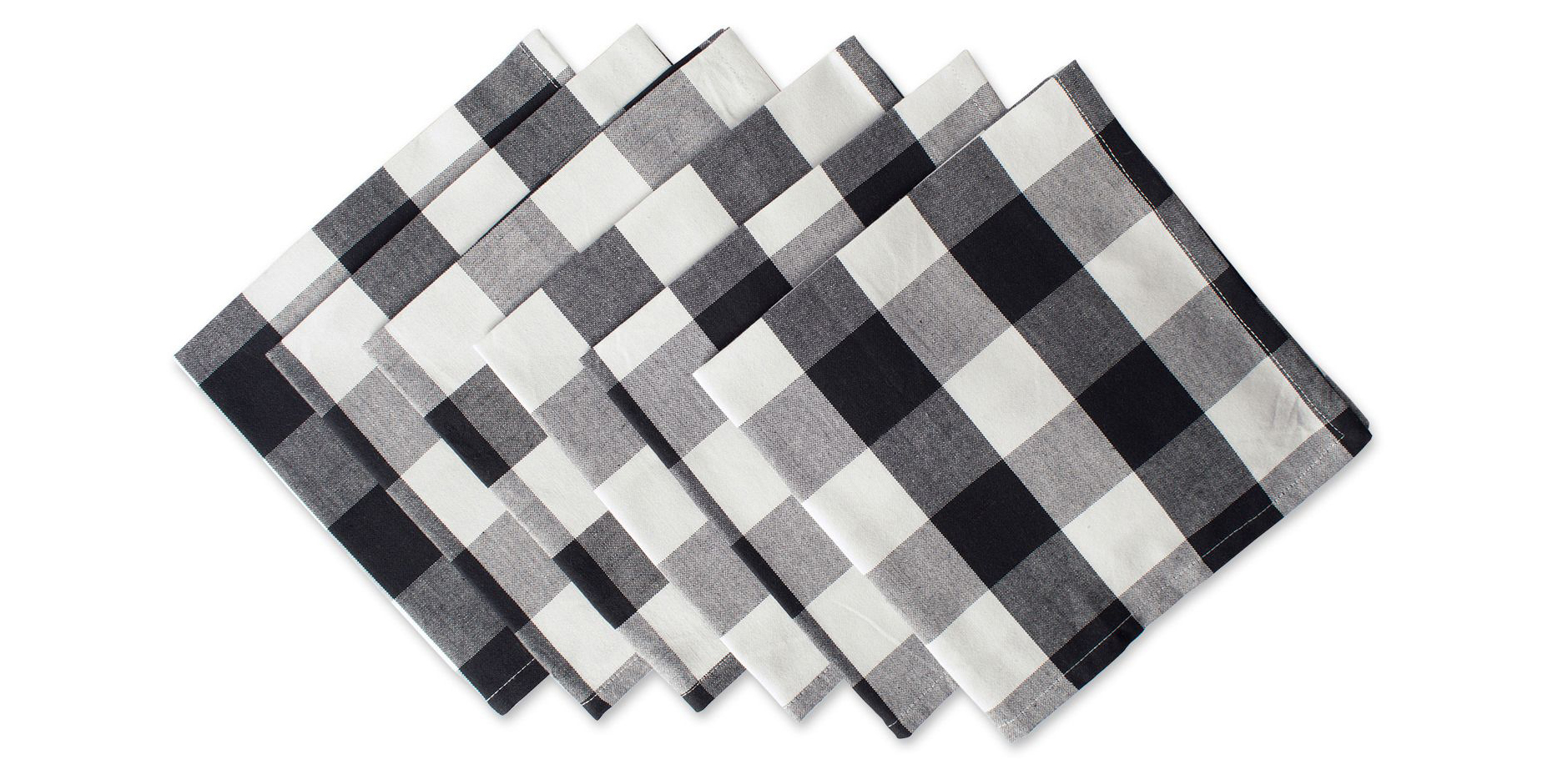 Black Buffalo Check Napkin Set