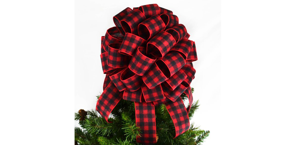 Buffalo Plaid Christmas Tree Topper