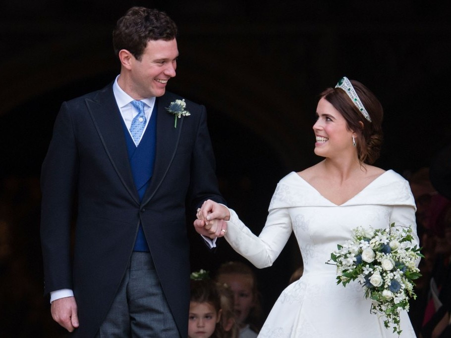 See Princess Eugenie and Jack Brooksbank's Handwritten Thank You Notes to Fans Following Wedding gettyimages-1051969780